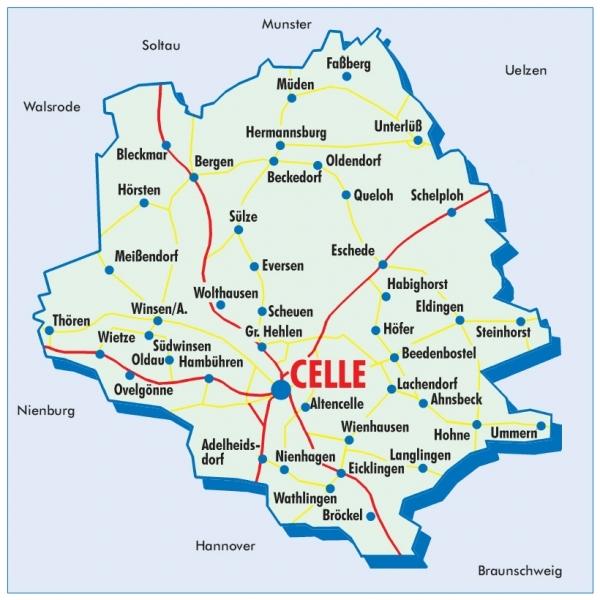 celle karte karte offene pforte celler stadt land   Die Offene Pforte & Gärten  celle karte
